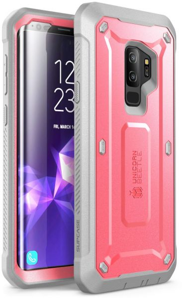 best service 329f5 db476 Samsung Galaxy S9+ Plus Case, SUPCASE Full-body Rugged Holster Case with  Built-in Screen Protector for Galaxy S9+ Plus (2018 Release), Unicorn  Beetle ...