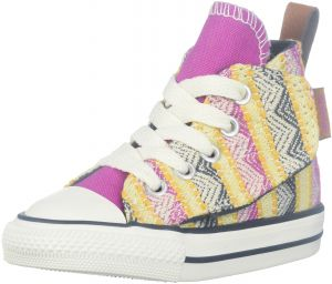 0a347be5cb5a27 Converse Kids Baby Girl s Chuck Taylor All Star Simple Step  (Infant Toddler) Plastic Pink Solar Orange Aurora Yellow 4 Toddler M