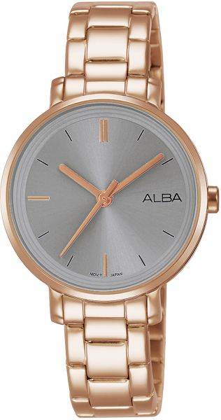 26cbade4a Alba stainless Steel Dress Watch For Women AH8372X - Rose Gold
