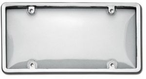 Custom Covers 92778 Clear Unbreakable Motorcycle License Plate Shield