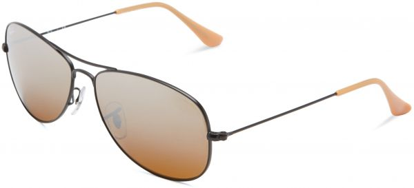 ff93b43581 ... COCKPIT - MATTE BLACK Frame BROWN SILVER MIRROR GRADIENT Lenses 56mm Non-Polarized.  by Ray-Ban
