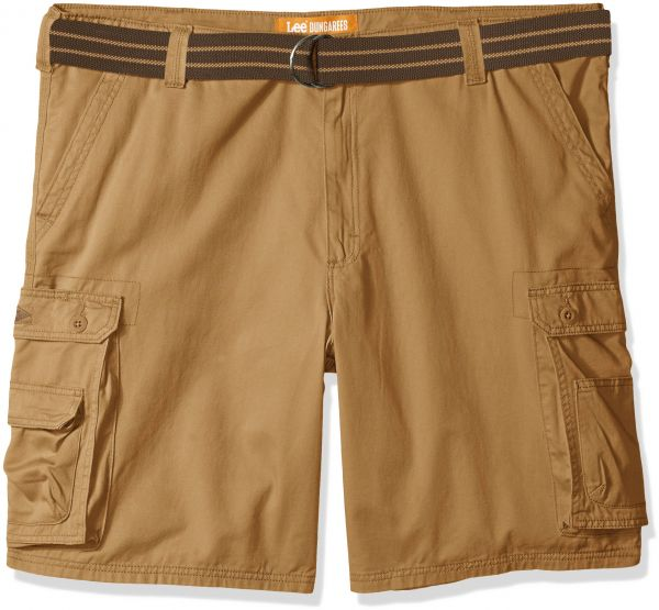 6dc8364cbc LEE Men's Big Tall New Belted Wyoming Cargo Short, Bourbon, 54W | KSA | Souq