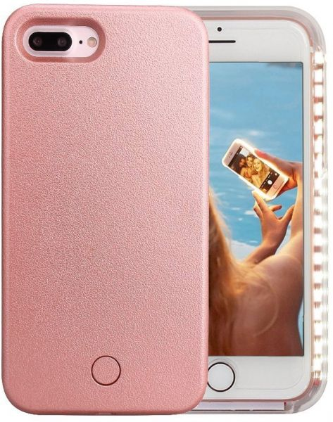 new product 6d033 92df6 iPhone 7 Plus Case, iPhone 8 Plus Case, Wellerly LED Illuminated Selfie  Light Cell Phone Case Cover [Rechargeable] Light Up Luminous Selfie  Flashlight ...