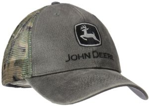 5613f20437b John Deere Logo Waxed Cotton Mesh Back Baseball Hat - One-Size - Men s -  Charcoal