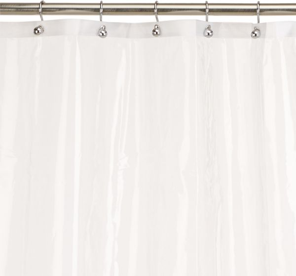 Carnation Home Fashions 10 Gauge PEVA 72 By 84 Inch Shower Curtain Liner X Long Super Clear