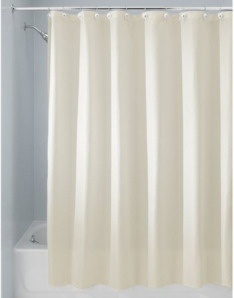 InterDesign Carlton Fabric Shower Curtain X Long 72 96 Natural