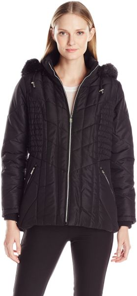 f1115ad3e6aa0 Details Women s Puffer Coat with Braided Rouched Side