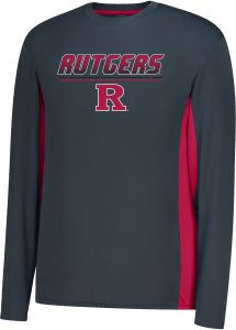 7fce57902ca J America NCAA Rutgers Scarlet Knights Men's Density Long sleeve Poly Tee,  XX-Large, Charcoal/Red