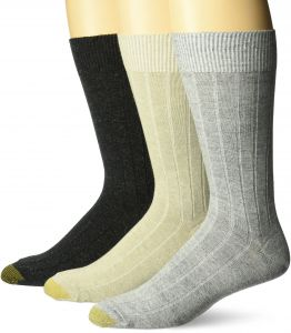 1d4b22556e03 Gold Toe Men's Hampton Socks, 3-Pack, Grey Marl/Oatmeal Heather/Black Marl, Shoe  Size: 6-12.5