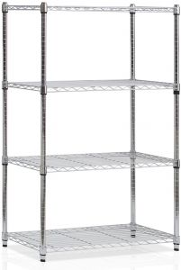 Black Safco Products 5288BL Industrial Wire Shelving Starter Unit 36W x 24D x 72H Add-On Unit and Extra Shelf Pack sold separately