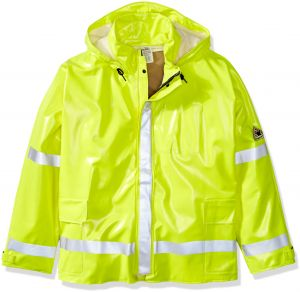 6e9ef093954ca Bulwark Men s Big and Tall Hi-Visibility Flame-Resistant Rain Jacket