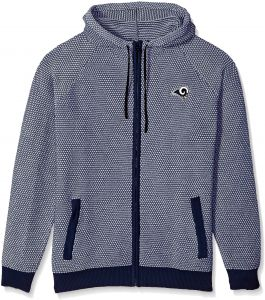 Los Angeles Rams Poly Knit Full Zip Hoody - Mens Extra Large 04710cc84