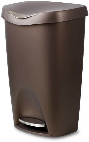Umbra Brim Large Kitchen Trash Can With Stainless Steel Foot Pedal Stylish And Durable 13 Gallon Step Garbage Lid Bronze Souq Uae