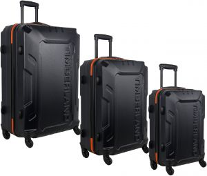 newest collection well known coupon code Timberland 3 Piece Hardside Spinner Luggage Set, Blue