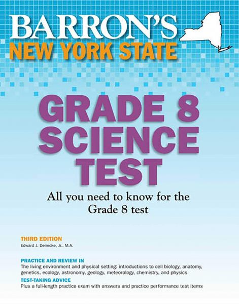 Barrons New York State Grade 8 Science Test 3rd Edition Souq Uae