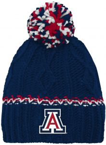 separation shoes 9e24b 343d3 NCAA by Outerstuff NCAA Arizona Wildcats Youth Girls Cable Knit Cuffless  Hat w  Pom, Dark Navy, Youth One Size