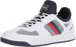 Polo Ralph Lauren Men s COURT200 Sneaker, Pure White French Navy Rl Red, 12  D US 48b34c192be