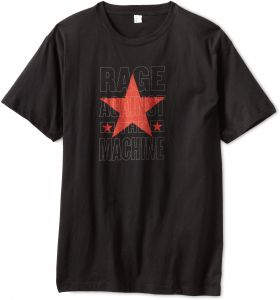 db39422742a FEA Merchandising Men s Rage Against The Machine Stacked Star Slim Fit T- Shirt