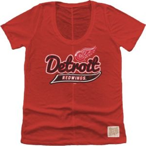 Original Retro Brand NHL Detroit Red Wings Women s Nubby Slub Tee 9c786d6e1