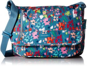 Vera Bradley Lighten up Rfid Laptop Messenger, Polyester, Superbloom Sketch 69ecb61c06