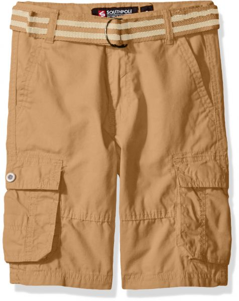 2b965ba2b2 Southpole Boys' Belted Mini Canvas Cargo Shorts in Various Colors ...
