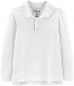 8038f34aa ... purchase osh kosh girls long sleeve uniform polo shirt white 1 7 59490  c3d67