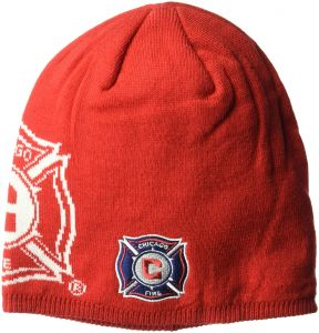 premium selection dedb4 9dada adidas MLS Chicago Fire Men s Glow in The Dark Knit Beanie, One Size, Red