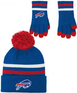def92d3234901 NFL Youth Boys (8-20) 2 Piece Knit Hat and Gloves Set-Royal