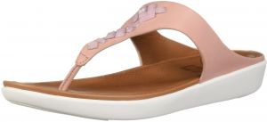 f74043e9a FitFlop Women s Banda Leather Toe-Thong Crystal Slide Sandal