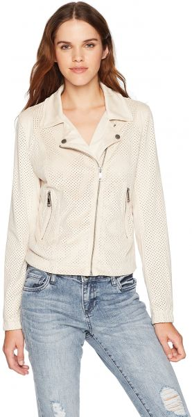 f7a6c8e7a7a VIGOSS Women s Perforated Faux Suede Moto Jacket