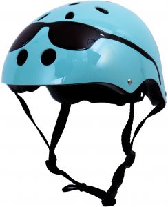 ibobby, Mini Hornit Collection, Sunglasses Bicycle Hammerhead Helment with LED Light, 18.5 x 20 inches, Light Blue