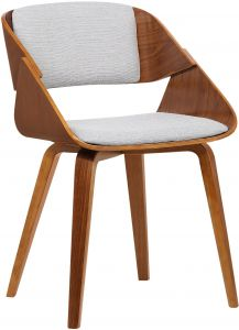 9414f2c928fe4 Armen Living LCIVCHWAGREY Ivy Dining Chair in Grey Fabric and Walnut Wood  Finish
