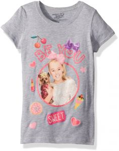 1f198f50e2b Nickelodeon Little Girls  JoJo Siwa Be You Short Sleeve T-Shirt