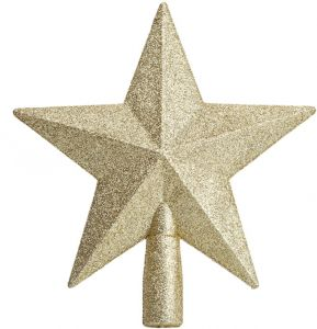 Perfect For Any Size Christmas Tree Gold Christmas Tree Topper Five Pointed Star Tree Top Christmas Tree Ornaments For Christmas Home Decor