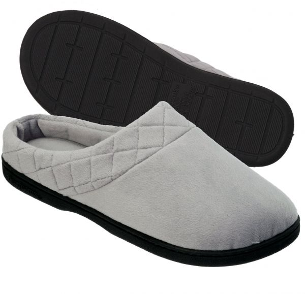 7909d900bda Dearfoams Women s Microfiber Clog Slipper with Quilted Cuff