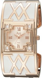 Wrist Armor Women's Quartz Metal and Alloy Casual Watch, Color:White (Model: 37VW106401A)