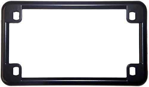 Chris Products 0610 Black Chrome Finish Motorcycle License Plate ...