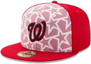 pretty nice 03f25 76e7c MLB Washington Nationals Men s 2016 Stars   Stripes 59Fifty Fitted Cap, Size  7 1 4, Scarlet