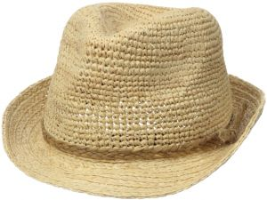 Scala Women s Crocheted Raffia Fedora 40ba7dfce868
