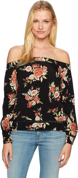 f25a55ff17facf MINKPINK Women s WallFlower Floral Print Off Shoulder Top