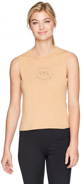 310fb785f0500 good hYOUman Women s Lili Discover Everything Crew Neck Crop Muscle ...