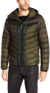 fe52275e138aa G-Star Raw Men's Attacc Hooded Down Jacket, Asfalt, X-Large