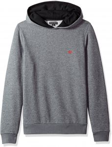 Emporio Armani Men s Basic French Terry Mock Hood Sweater, Dark Grey  Melange, L 055ee57f73b