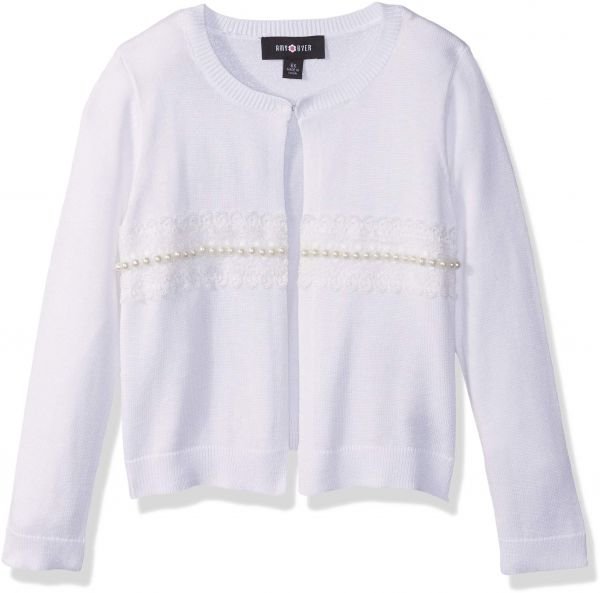 Sweater Dressed S Girls' Byer Cardigan Amy White up Big nqYSxBct