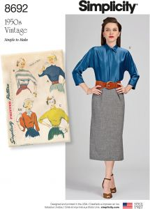 4576afdf36376 Simplicity Creative Patterns US8692U5 Pattern 8692 Misses  Vintage Blouse  and Dickey Tops