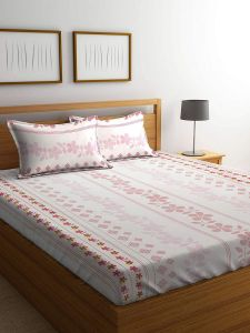 fda2353e9257 Mafatlal Cream Double Size 228x254 144TC Bed Sheet with 2 Pillow Covers - 3  Pieces