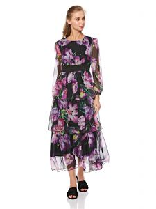 e8db938728d 2Xtremz Casual Purple Floral Printed Maxi Dress for Women - Purple
