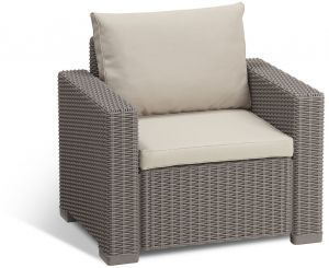keter ?????????? 3-seater ?????? ??????? ?? ????????? ?? ??????? ?? ?????? ?? ???????? ?????? Wicker ????? Armchair Cappuccino/Sand  sc 1 st  Souq.com & ??? | ???? keter corfu resin armchair with cushions all weather ...
