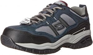 Skechers Men's Work Relaxed Fit Soft Stride Grinnel Comp, NavyGray 14 D(M) US