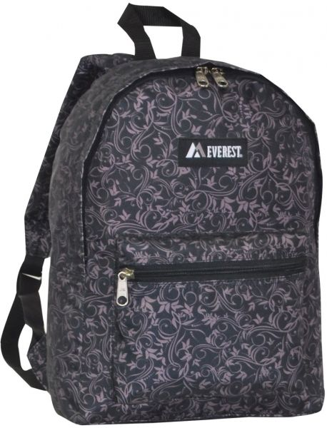 046b03444dfb Everest Basic Pattern Backpack, Brown, One Size